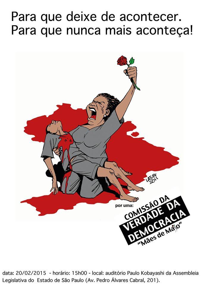 Cartaz convoca movimentos sociais para reunião nesta sexta-feira (20/02), na Assembleia Legislativa de São Paulo | Divulgaçã