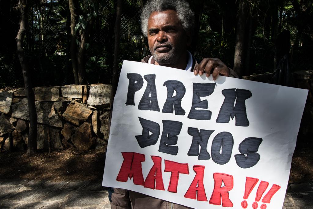 Adão, cansado de ver PMs matando jovens negros  Foto: Daniel Arroyo/Ponte