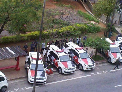 Jovens presos no Centro Cultural São Paulo em 4/9