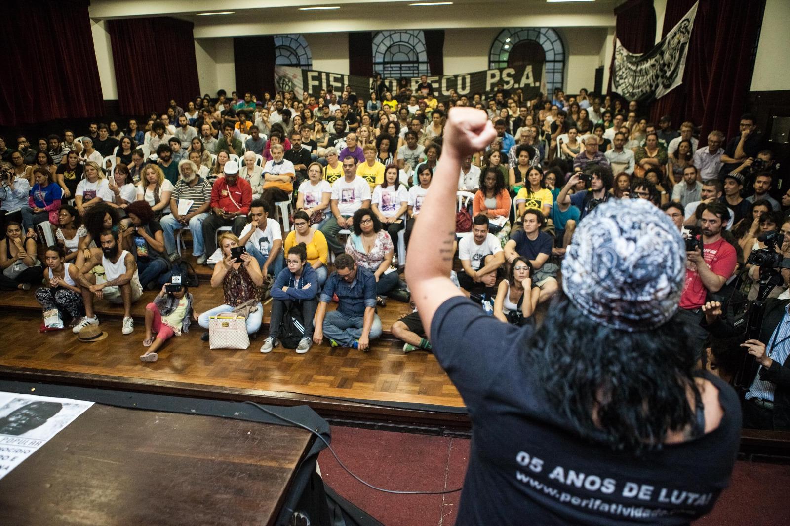 Sala dos estudantes da Faculdade de Direito da USP durante o lançamento do livro - Foto: Sérgio Silva/Ponte Jornalismo