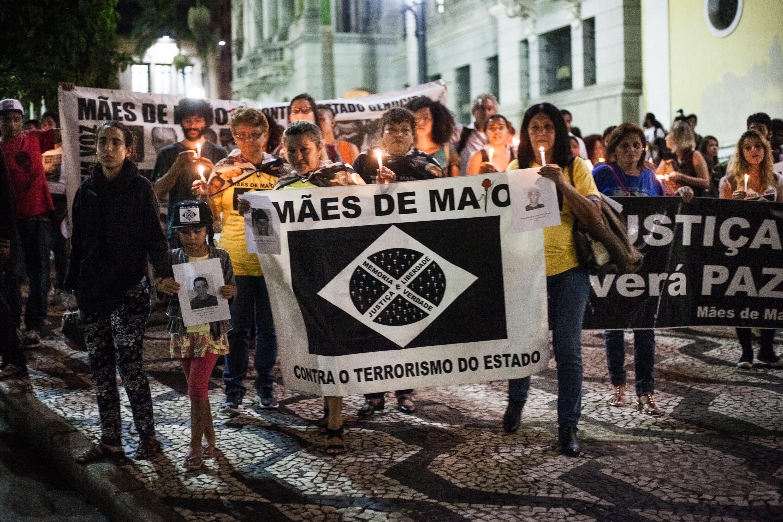 Após o lançamento, houve um cortejo das Mães até a frente da Secretaria da Segurança Pública - Foto: Sérgio Silva/Ponte Jornalismo