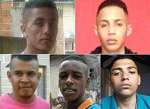 Os cinco rapazes foram encontrados mortos dia 6/11, em uma mata de Mogi das Cruzes (Grande SP) - Foto: Reproduções
