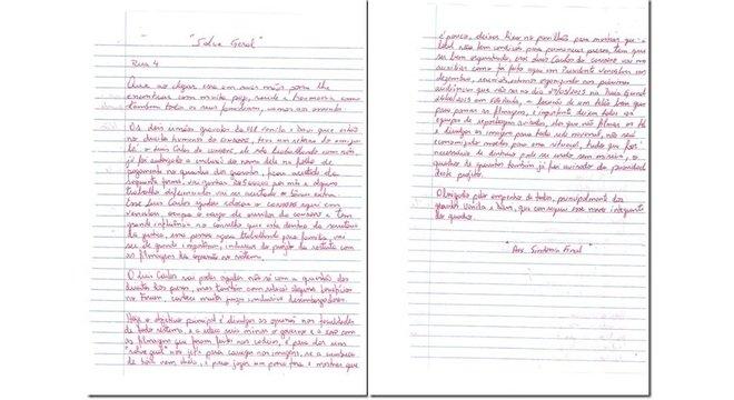 Carta apreendida em penitenciária de Presidente Venceslau que deu origem à Operação Ethos - Foto: Reprodução