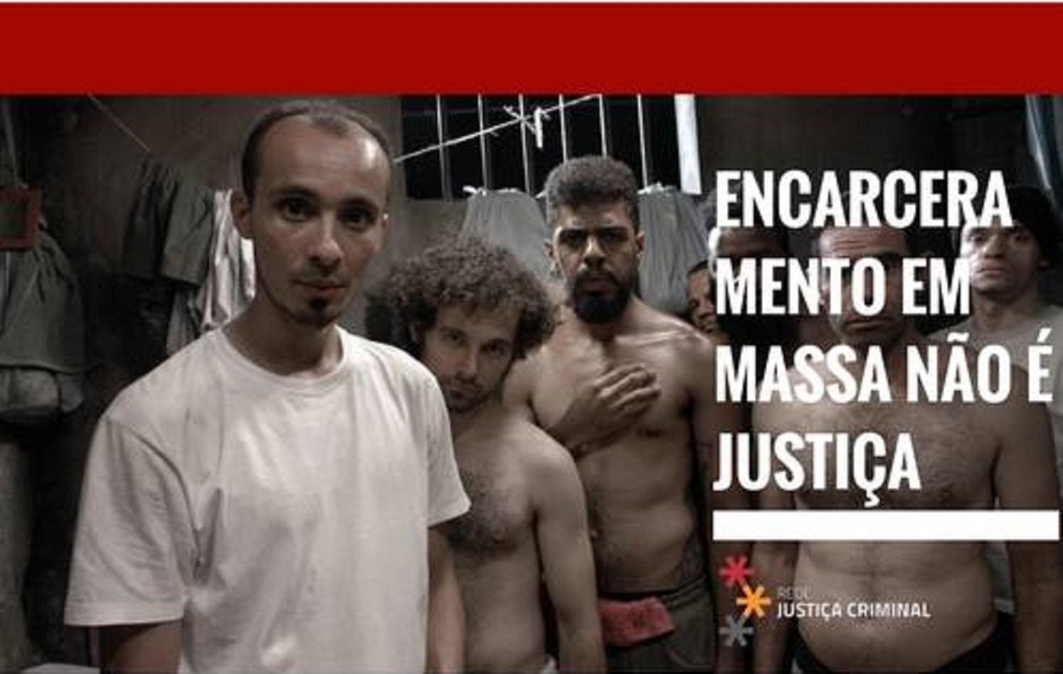 """Lançamento da Campanha """"Encarceramento em massa não é Justiça"""" acontecerá terça-feira (13/06), no TUCA, em São Paulo - Imagem: Reprodução"""