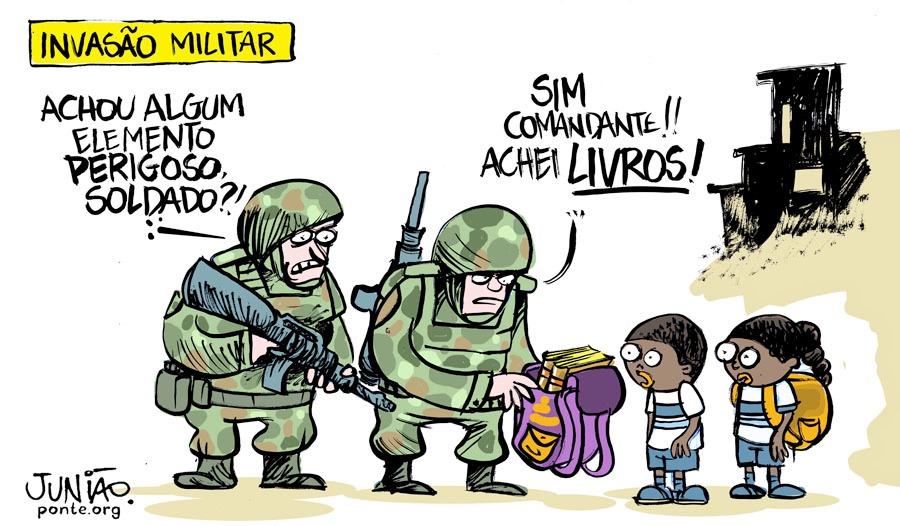 Militares revistaram mochilas de crianças sem presença de conselho ...