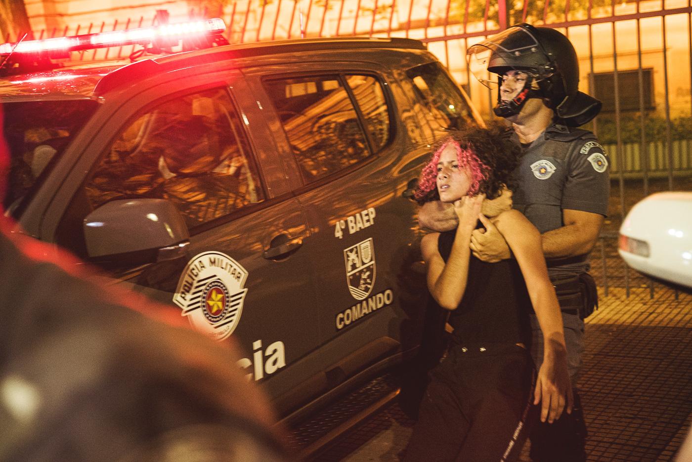 """""""Gosto de manifestação para bater nas pessoas"""", disse PM em São Paulo"""